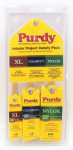 "Purdy 14V853108 3 Pack, Variety Brush Kit, Purdy Professional Interior Project Variety Pack, Includes 1"" XL Dale Angle (TV# 364866) for touch Up, 1.5"" Clearcut Dale Angle for Walls and Trim (TV# 145200) & 2"" Nylox Elasco Flat Trim Brush for Cabinets, Base"