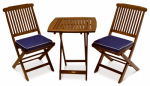 Outdoor Interiors S60040BL Eucalyptus Bistro Set, 3-Pc.
