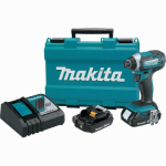 Makita Usa XDT11R 18V Compact Lithium-Ion Cordless Impact Driver Kit, 2.0Ah