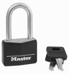 Master Lock 141DLF Padlock, Aluminum With Black Cover, 1-9/16-In., Keyed