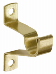 Kenney Mfg KN826 Caf  Curtain Rod Bracket, Brass, 3/4-In. Clearance