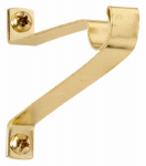 Kenney Mfg KN828 Caf  Curtain Rod Bracket, Brass, 2-In. Clearance