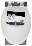 Bemis Mfg 141EC 000 Elongated Molded Wood Toilet Seat, Easy-Clean & Change  Hinge, STA-TITE , White