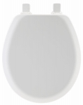 Bemis Mfg 41EC 000 Round Molded Wood Toilet Seat, Easy-Clean & Change  Hinge, STA-TITE , White