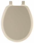Bemis Mfg 41EC 006 Round Molded Wood Toilet Seat, Easy-Clean & Change  Hinge, STA-TITE , Bone