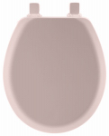 Bemis Mfg 41EC 023 Round Molded Wood Toilet Seat, Easy-Clean & Change  Hinge, STA-TITE , Pink