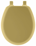 Bemis Mfg 41EC 031 Toilet Seat, Round, Harvest Gold Wood