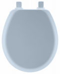 Bemis Mfg 41EC 034 Toilet Seat, Round, Sky Blue Wood