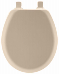 Bemis Mfg 41EC 078 Round Molded Wood Toilet Seat, Easy-Clean & Change  Hinge, STA-TITE , Beige