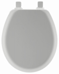 Bemis Mfg 41EC 162 Round Molded Wood Toilet Seat, Easy-Clean & Change  Hinge, STA-TITE , Silver