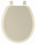 Bemis Mfg 41EC 346 Round Molded Wood Toilet Seat, Easy-Clean & Change  Hinge, STA-TITE , Biscuit