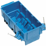 Thomas & Betts BH464A 4 Gang New Work Super Blue Hard Body Wiring Box