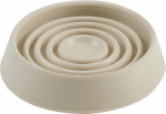 Shepherd Hdwe Prod 9068 Caster Cup Floor Protector, Off-White Rubber, 3-In. Round, 2-Pk.