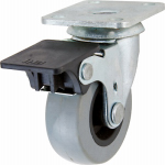 Shepherd Hdwe Prod 3542 TPU Swivel Caster With Brake, 2-In.