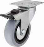 Shepherd Hdwe Prod 3546 TPR Swivel Caster With Brake, 2-In.