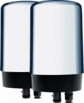 Clorox Sales Co Brita 42618 Faucet-Mount Replacement Water Filter, Chrome, 2-Ct.