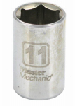Ming Shin USA 213184 MM 1/4'' Drive 11MM 6 Point Socket