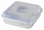Nordic Ware 45803 Cake Pan With Lid, Aluminum, 9 x 9-In. Square