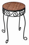 Panacea Products 82321 Metal/Resin Wicker Plant Stand, 11.5-In.