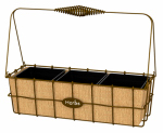 "Panacea Products 83272 14"" Rust Herb Basket"