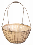 Panacea Products 84272 Rustic Woven Wire Urn Basket, 18-In.