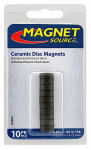 "Master Magnetics 07002 Ceramic 8 Disc Magnet .5""D X .1875""Thk, 10 pieces"