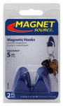 Master Magnetics 07599 Magnet Hooks With Gripper Pads, 2-Pk.