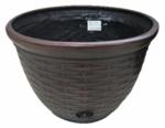 Liberty Garden Products 1920 12x18 Wicker Hose Pot