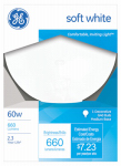 G E Lighting 49780 White Globe Light Bulb, 60-Watt, 5-In.-Diameter