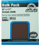 Ali Industries 4248 Gator 25 Count 9x11 800 Grit Crocus Cloth