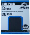 Ali Industries 4247 Gator 25 Count 9x11 50 Grit Emery Cloth Sandpaper