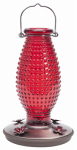 Woodstream 8130-2 Hummingbird Feeder, Vintage Red Hobnail