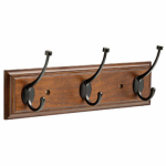 Brainerd Mfg Co/Liberty Hdw TVPLLT3-BCO-U Rail Hook, Bark & Cocoa Bronze, 15.85-In.