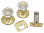 Belwith Products 1148-PB Passage Door Latch Set, Glass Knobs, Polished Brass