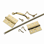 National Mfg/Spectrum Brands Hhi N100-022 Screen & Storm Door Set, Brass