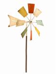 Alpine KIY102MC Windmill Lawn Ornament, 52-In.