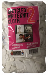 Sandler Brothers 241002 2# Block-Pack Recycled White Knit Cloths
