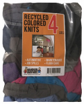 Sandler Brothers 342004 4# Block-Pack Recycled Colored Knit Cloths