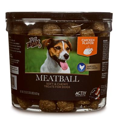 Pet Expert 07112 Dog Treats, Chicken Meatballs, 22-oz.