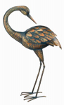 Regal Art & Gift 11293 Preening Crane Statuary, Copper Patina, 21.5-In.