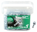 Itw Brands 21341 400PK#12x1 Hex Pint or Point Screw