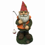 Design House 323303 Fishing Garden Gnome, 11.7-In.