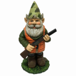 Design House 323311 Hunting Garden Gnome, 11.9-In.