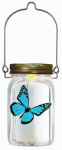 Forever Gifts DSS1500032T Solar LED Light In A Jar, Butterfly