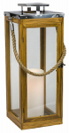 Northern International GL29995TK Teak Lantern, Battery-Operated Candle, 23-In.