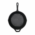 Blue Rhino Global Sourcing 00397TV Round Cast Iron Grill Pan