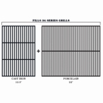 Traeger Pellet Grills BAC367 34 Series Cast Iron Upgrade Grill Grate Kit