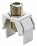 Pass & Seymour WP3479WH Non-Recessed Nickel F-Connector, White