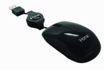 Lifeworks Technology Group IH-M1000B Retractable USB Travel Mouse, Black