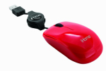 Lifeworks Technology Group IH-M1000R Retractable USB Travel Mouse, Red